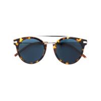 Fendi Eyewear Óculos De Sol Redondo - Brown