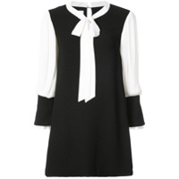 Edward Achour Paris Vestido Color Block - Preto
