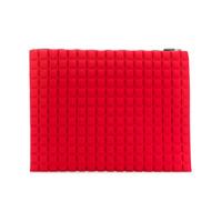 No Ka' Oi Necessaire Grande Com Textura - Vermelho