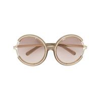 Chloé Eyewear Óculos De Sol 'jayme' Com Armação Redonda - Nude & Neutrals