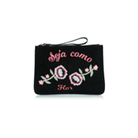Luiza Barcelos Clutch Camurça Bordada - Unavailable