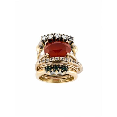 Imagem de Iosselliani Conjunto de anéis com banho de ouro - Metallic