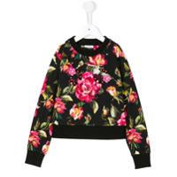 Dolce & Gabbana Kids Moletom Com Estampa De Rosas - Preto