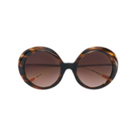 Christian Roth Eyewear Óculos De Sol Oversized - Brown