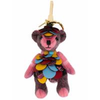 Burberry Chaveiro Com Pingente De Urso 'thomas' - Pink & Purple