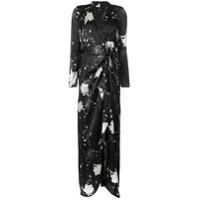 Paule Ka Vestido Com Estampa Floral - Preto