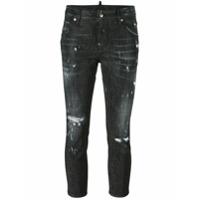 Dsquared2 Calça Jeans Cropped - Preto