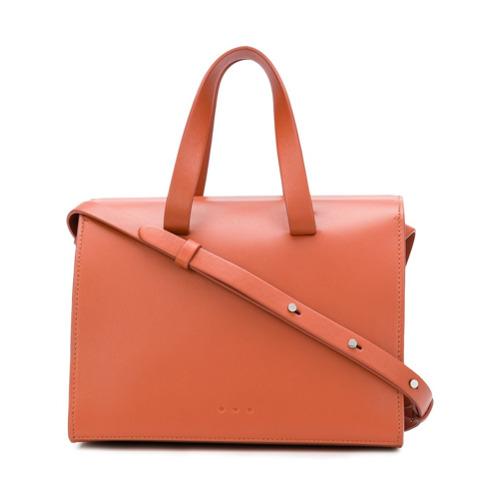 Imagem de Aesther Ekme Mini Barrel shoulder bag - Amarelo E Laranja