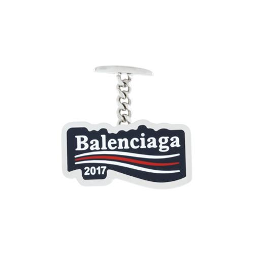 Imagem de Balenciaga Abotoaduras com logo 'Balenciaga 2017' - Azul