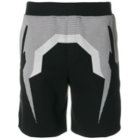 Blackbarrett Shorts De Algodão Misto - Preto