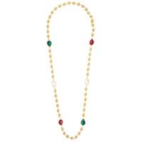 Dolce & Gabbana Colar Longo Com Esferas E Cristais - Metallic