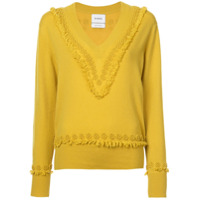 Barrie Suéter Bordado - Amarelo