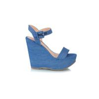 Luiza Barcelos Sandália Plataforma Jeans - Unavailable