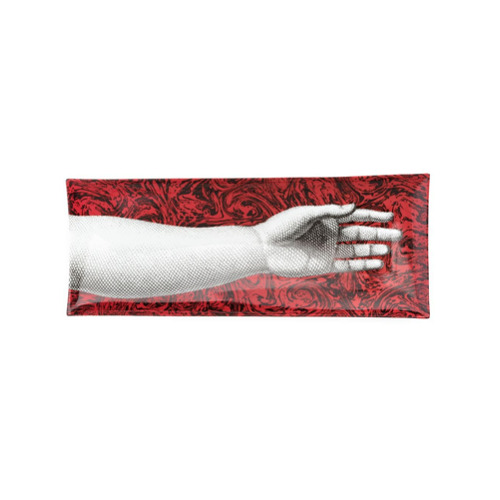 Fornasetti Don Giovanni rectangular tray - Vermelho