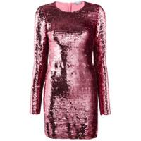 Red Valentino Vestido Com Paetês - Rosa