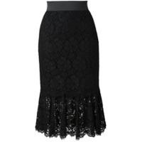 Dolce & Gabbana Saia Com Renda - Preto
