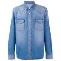 Ami Alexandre Mattiussi Camisa Jeans Com Bolsos - Azul