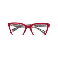 Miu Miu Eyewear Armaçã De Óculos Quadrada - Vermelho