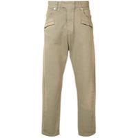 Balmain Calça Pantalona - Marrom