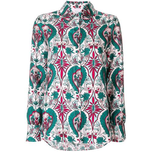 La Doublej Camisa 'Boy' de seda - Estampado