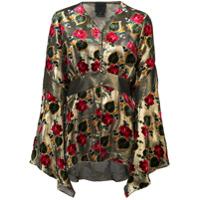 Anna Sui Blusa Com Padronagem Floral - Metallic