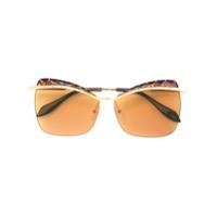 Alexander Mcqueen Eyewear Óculos De Sol De Armação Gatinho - Metallic