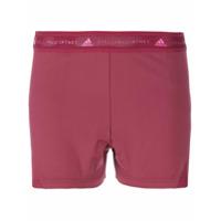Adidas By Stella Mccartney Short De Yoga - Vermelho