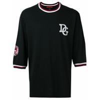 Dolce & Gabbana Camiseta Com Logo Frontal - Preto