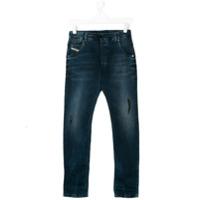 Diesel Kids Calça Jeans Slim - Azul