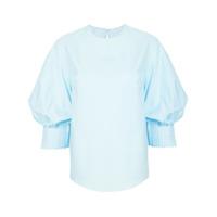 Delpozo Camisa Mangas Três Quartos - Azul
