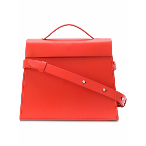 Imagem de Aesther Ekme Bolsa tiracolo 'Mini Barrel' de couro - Vermelho