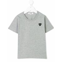Comme Des Garçons Play Kids Camiseta Com Logo De Coração - Grey