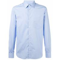 Aspesi Camisa Com Bolso No Busto - Azul