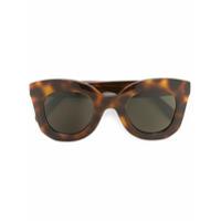 Céline Eyewear Óculos De Sol 'marta' - Brown