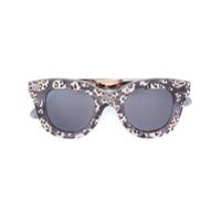 Cutler & Gross Óculos De Sol Estampado - Preto