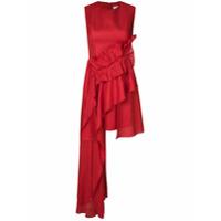 Delpozo Vestido Assimétrico - Vermelho
