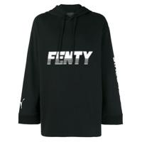 Fenty X Puma Blusa De Moletom Com Estampa Gráfica E Capuz - Preto