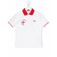 Boss Kids Camisa Polo Com Logo - Branco