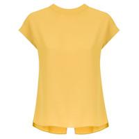 Egrey Blusa Reta Com Recortes - Amarelo