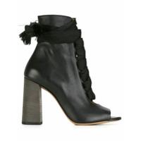 Chloé Ankle Boot De Couro - Preto