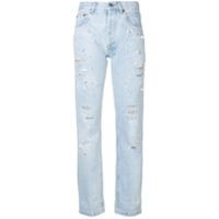 Forte Dei Marmi Couture Calça Jeans Cropped Com Aplicação - Azul