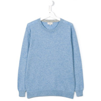 Cashmirino Suéter De Cashmere Decote Arredondado - Azul