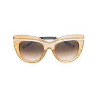 Boucheron Óculos De Sol Armação Gatinho - Amarelo E Laranja