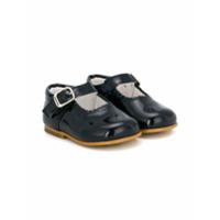 Andanines Shoes Sapatilha De Couro Com Detalhe Ondulado - Azul
