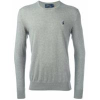 Polo Ralph Lauren Blusa De Moletom Com Logo - Grey