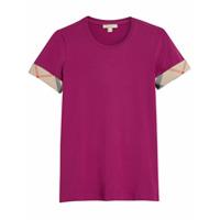 Burberry Camiseta Com Detalhe Xadrez - Pink & Purple
