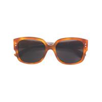 Dior Eyewear Óculos De Sol 'studs' - Brown