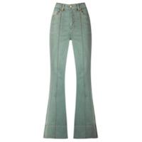 Amapô Calça Jeans Flare Cintura Alta - Green