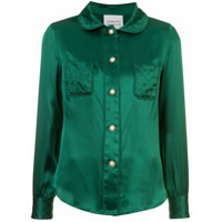 Edward Achour Paris Camisa De Seda - Green