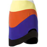 Mugler Saia Reta Color Block - Estampado
